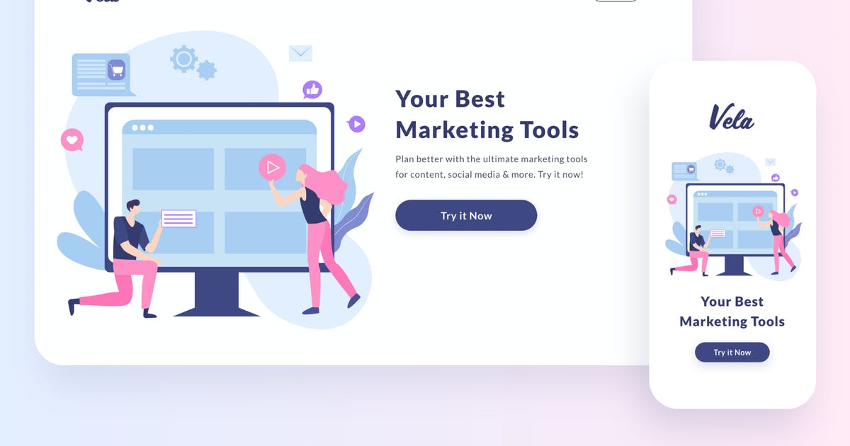 Download Marketing Tools Illustration by buydesign