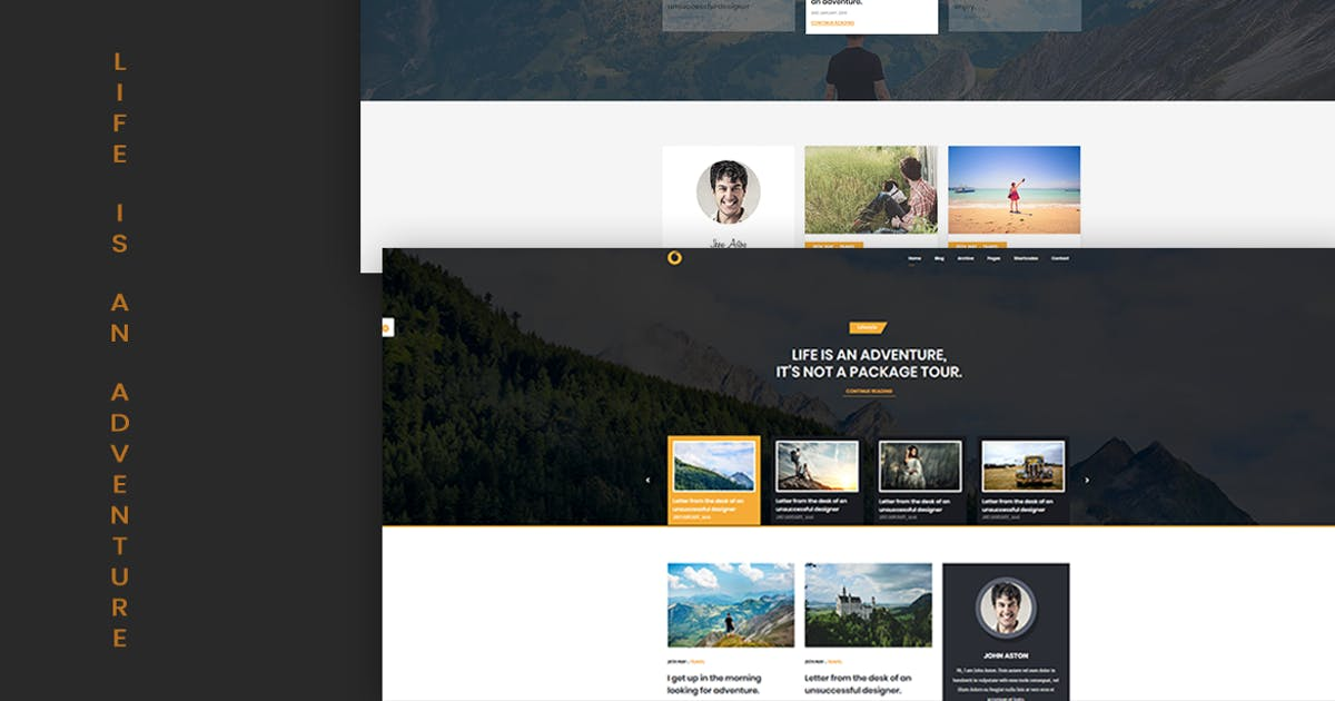 Download Dot – Personal Blog HTML5 Template by MarkhorThemes