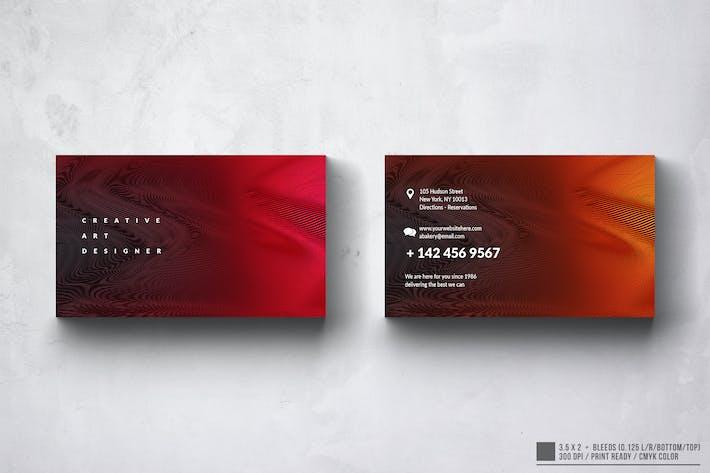 Thumbnail for Elegant Art Minimal Business Card Design
