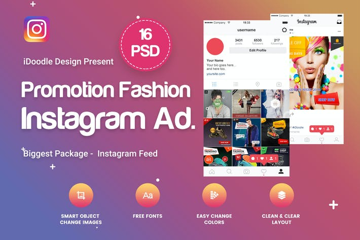 Thumbnail for Instagram Fashion, Products Ad - 16 PSD