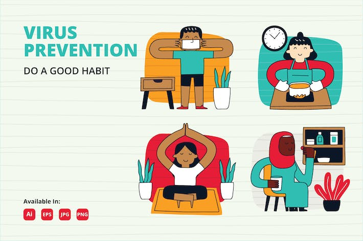 Thumbnail for COVID-19 Prevention habit