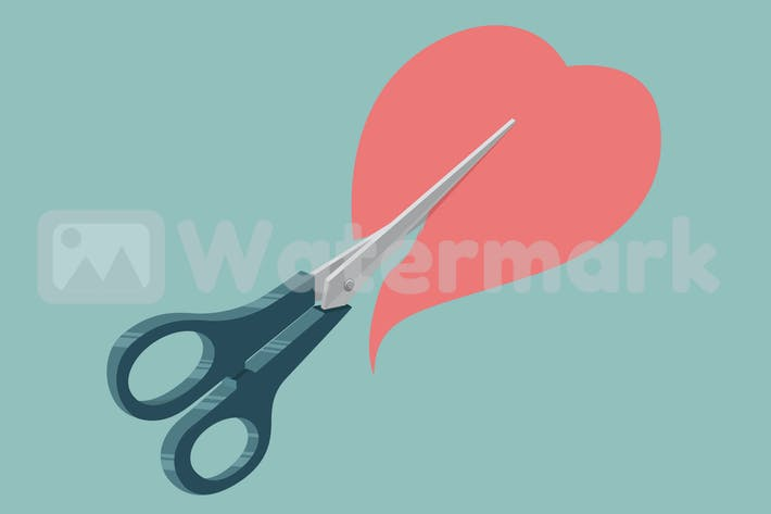 Thumbnail for Scissor cutting Heart