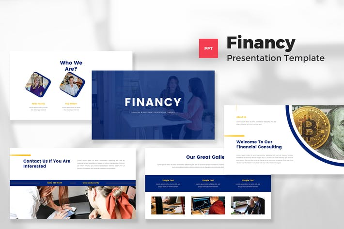 Финансовый и инвестиционный шаблон PowerPoint