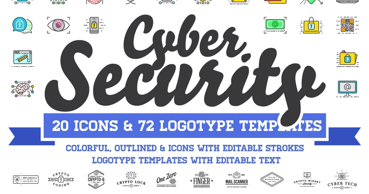 Download Cyber Security Logos and Icons Set by CkyBe