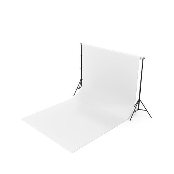 Thumbnail for Empty Photo Studio White Backdrop Kit
