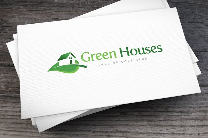 Thumbnail for Green Houses Logo Template