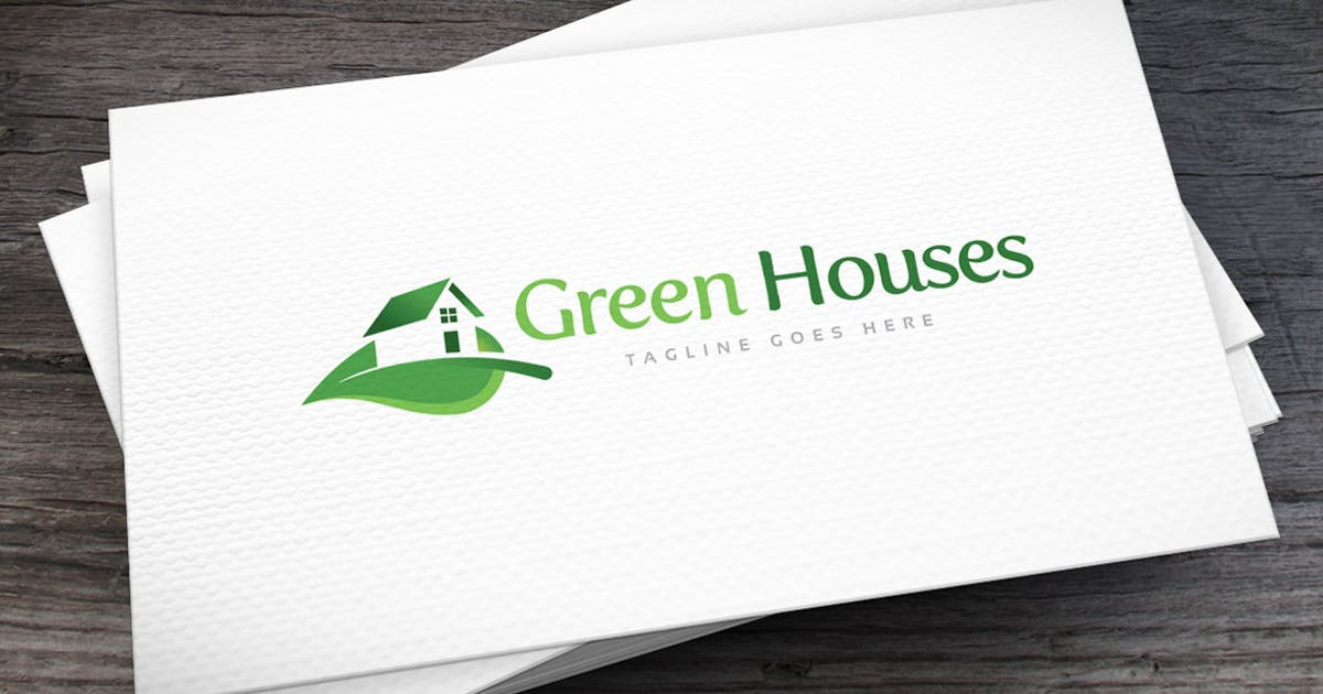 Download Green Houses Logo Template by empativo