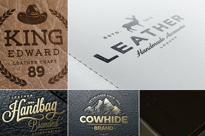 Thumbnail for Leather Logo Mockups