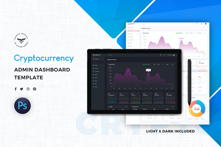 Thumbnail for Cryptocurrency Admin Template UI Kit