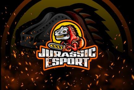 Jurassic E-Sport and Sport Logo Template