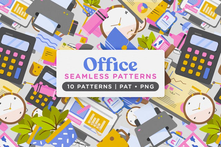 Thumbnail for Office Inventory Seamless Patterns
