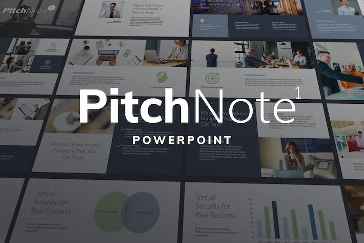 Thumbnail for Pitch Note 1 - Powerpoint Template Presentation