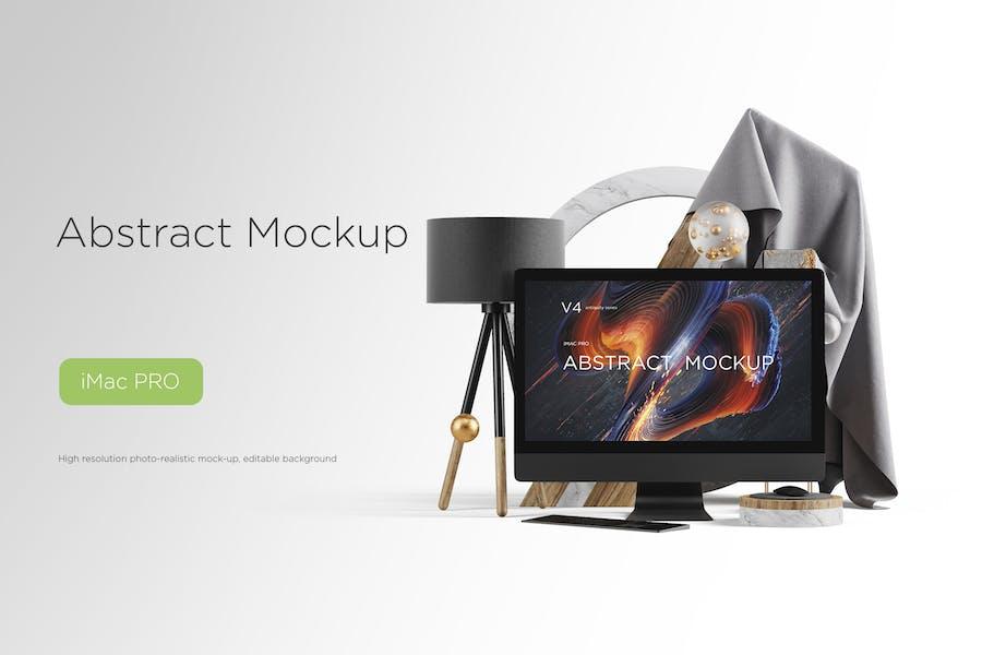 Abstract Mockup iMac Pro Max vol.04