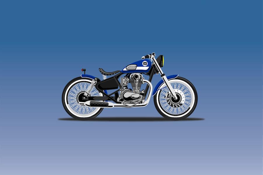 bratbob Bike - Vector Illustration