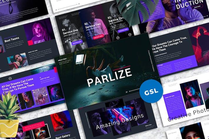 Thumbnail for Parlize - Творческие Шаблоны Гуглеслида