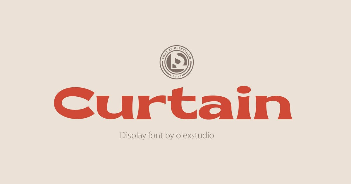 Download CURTAIN - Display Font by Olexstudio