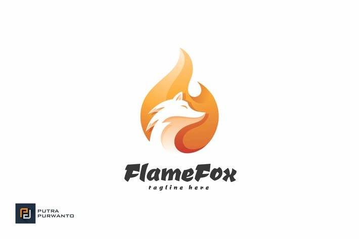 Thumbnail for Flame Fox - Logo Template