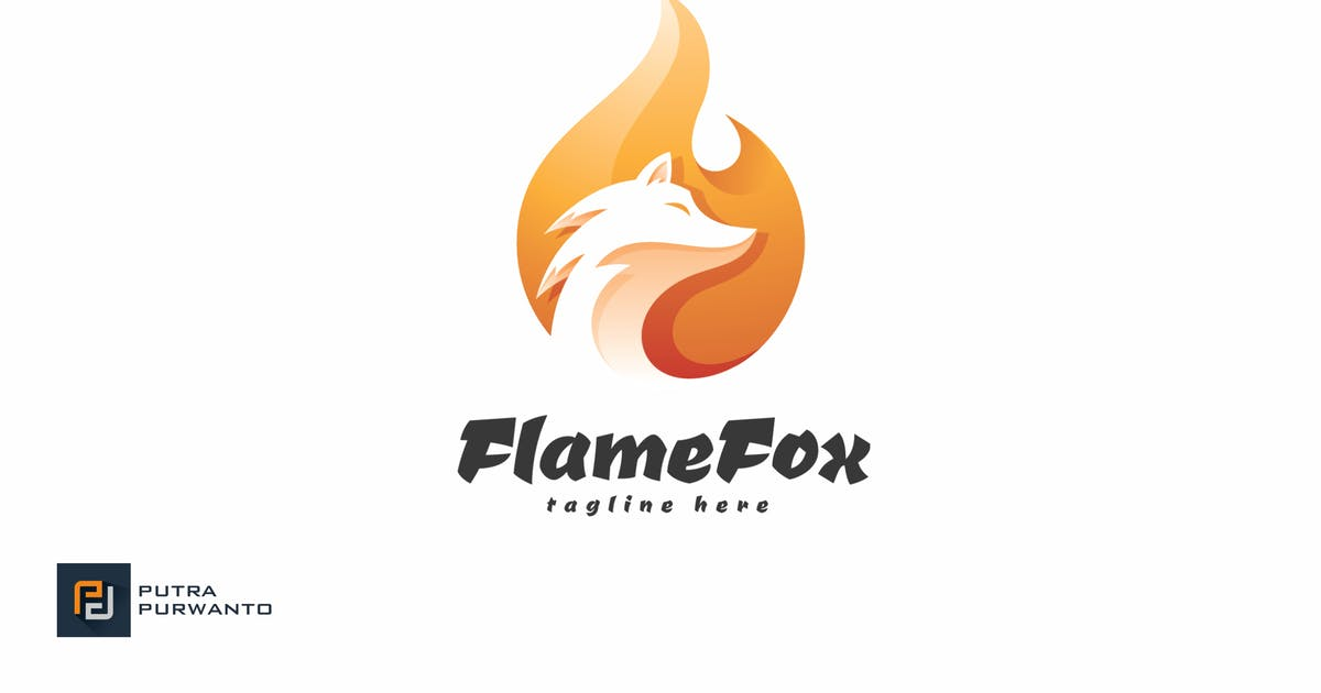 Download Flame Fox - Logo Template by putra_purwanto