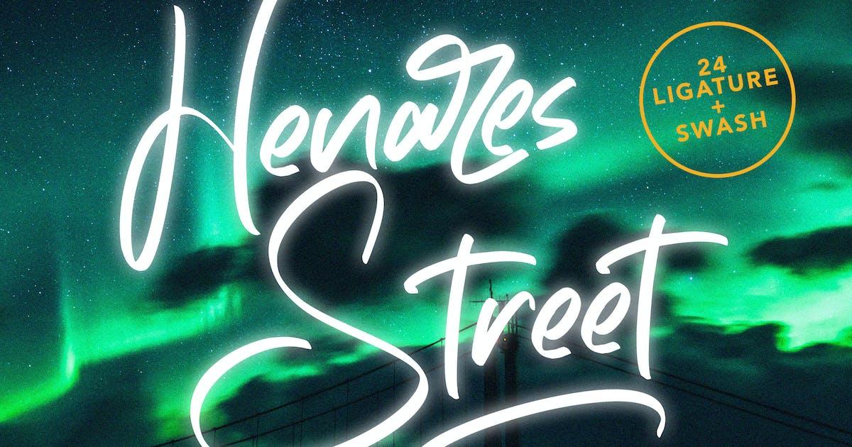 Download Heares Street - Brush Font by arendxstudio