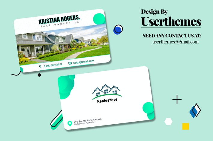 Thumbnail for Business Visiting Card for Real Estate Template