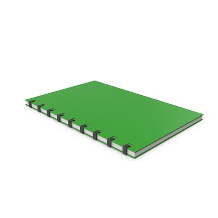 Bloc de notas verde