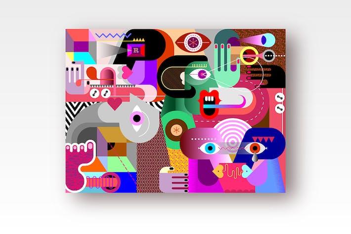 Thumbnail for Modern Abstract Art vector illustration