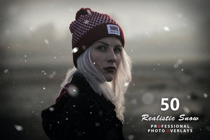 50 Realistic Snow Photo Overlays