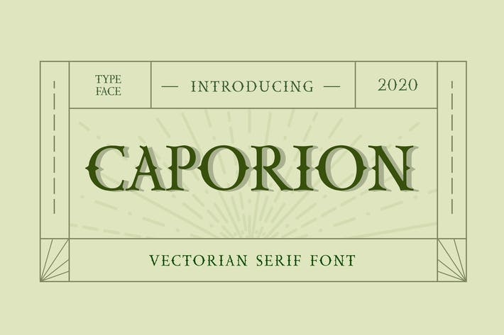 Cover Image For CAPORION Font empatSerif vectorien