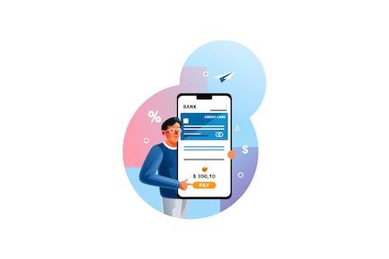 Mobile Banking für Online-Bezahlung
