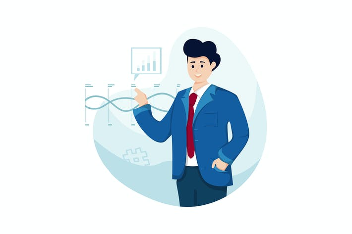 Thumbnail for Business Communication Vector Illustration