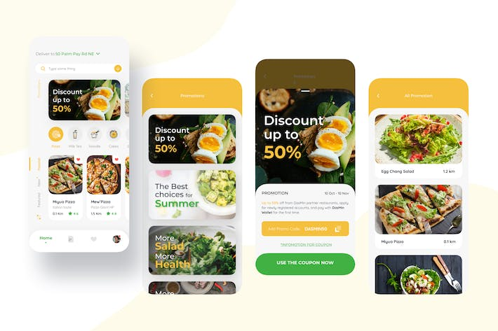 Thumbnail for Promotion – Food Delivery Mobile UI Kit nft