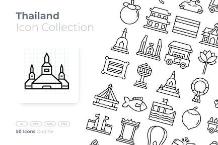 Thailand Outline Icon