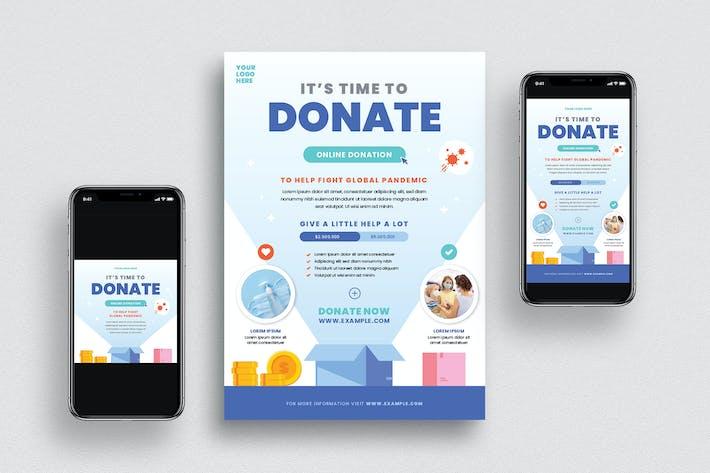 Thumbnail for dépliant sur les dons en ligne + Médias sociaux