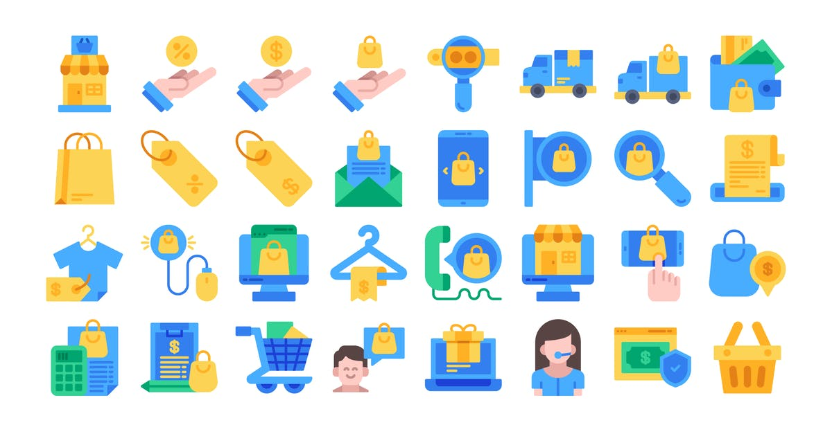 Download 40 Ecommerce Icons Set - Flat by kmgdesignid
