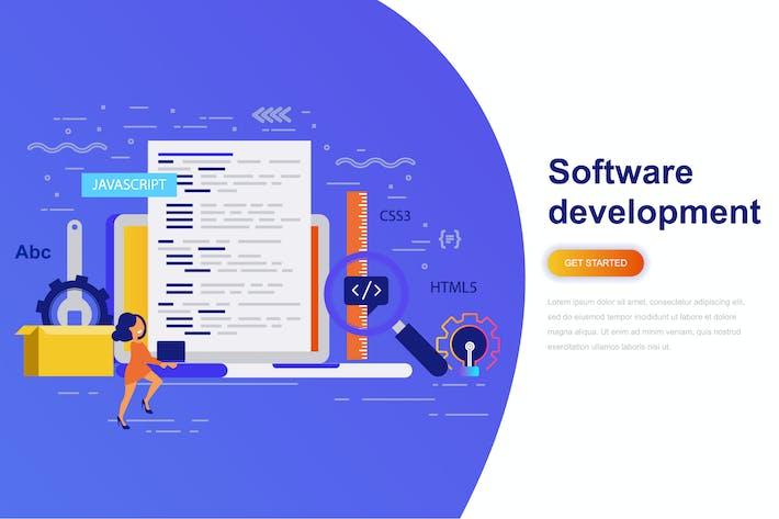 Thumbnail for Software Development Modern Flat Concept