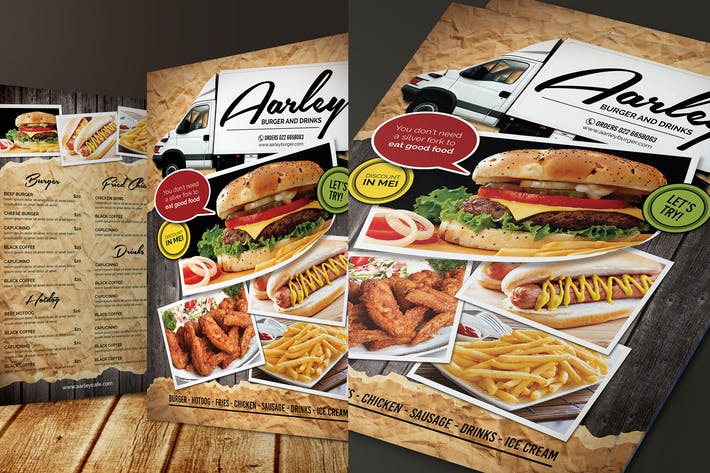 Thumbnail for Food Truck Menu Flyer