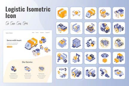 25 Iconset Isometric Logistic