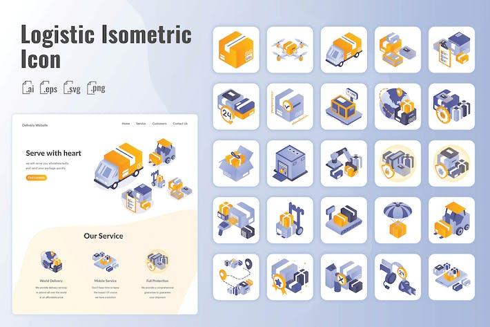 Thumbnail for 25 Iconset Isometrische Logistik