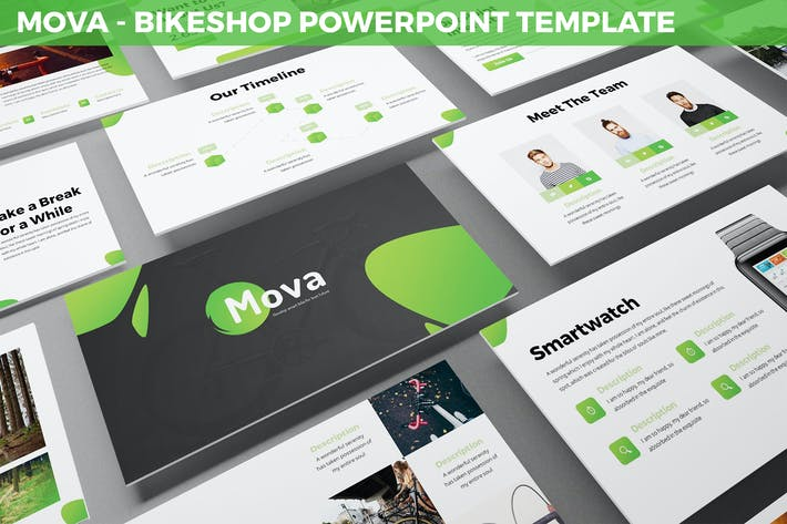 Thumbnail for Mova - Bikeshop Powerpoint Template