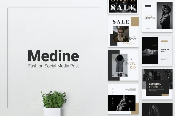 Thumbnail for MEDINE Fashion Instagram & Facebook Post