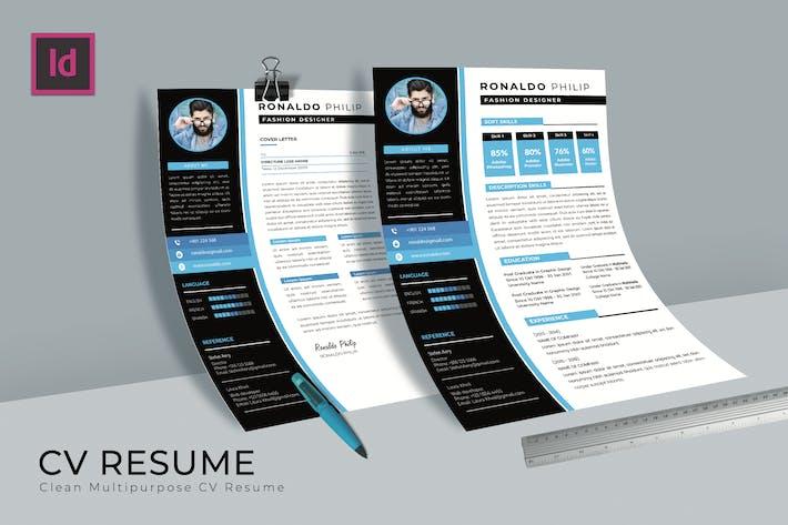Thumbnail for Creator Design CV Resume