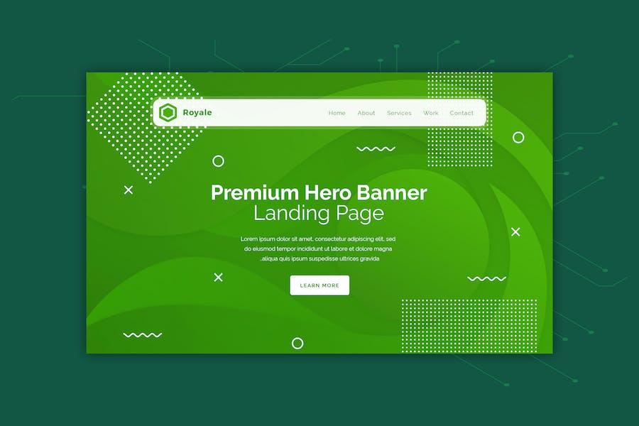 Royale - Creative Abstract Hero Banner