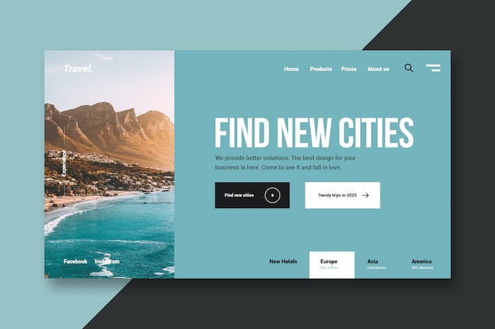 Thumbnail for Travel & Vacations - Landing Page