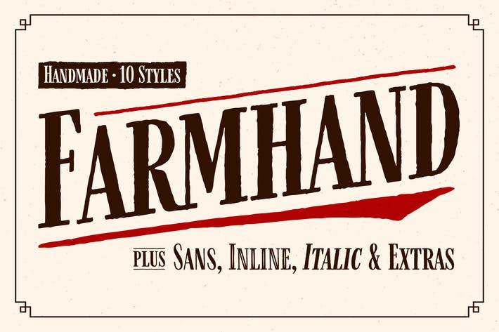 Thumbnail for Farmhand Font Family