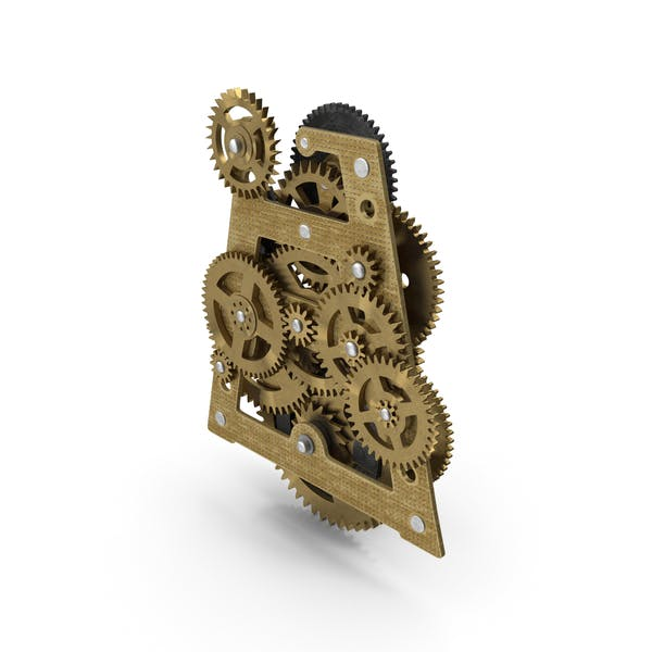 Clockwork Gears Brass