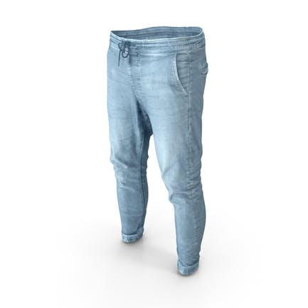 Herren Jeans Hellblau