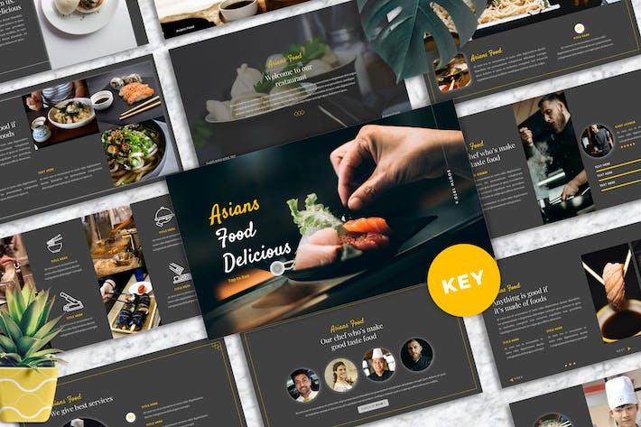 Asians Food - Food & Beverage Keynote Template