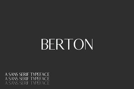 Berton Sans Con serifa - Pack familiar de fuente