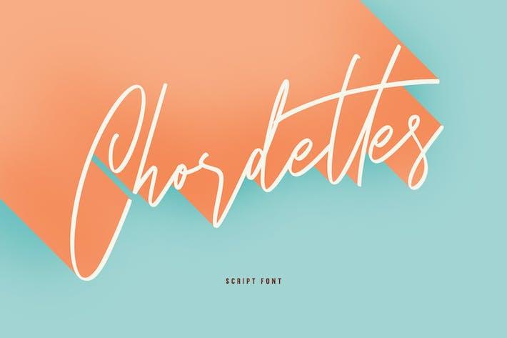 Thumbnail for Chordettes Signature Script Brush Handmade Font