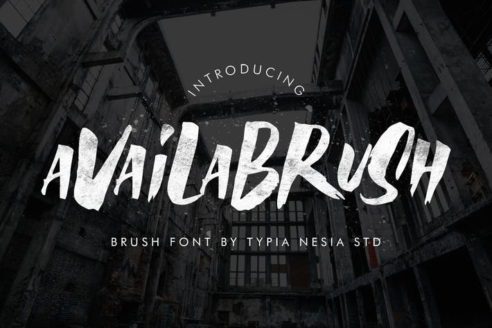 Thumbnail for AvailaBrush Brush Font